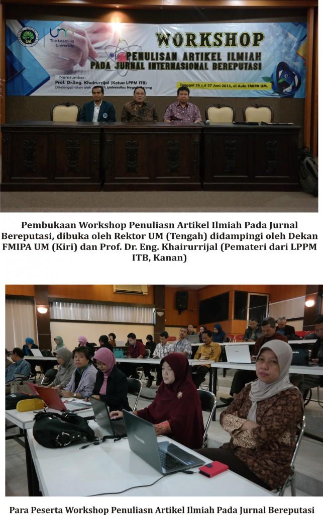 Workshop Penulisan Artikel Dalam Jurnal Internasional Bereputasi