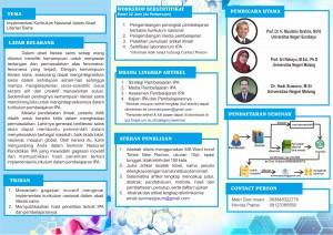 Info Seminar Nasional Pembelajaran IPA dan Workshop ke-1 (lanjutan)