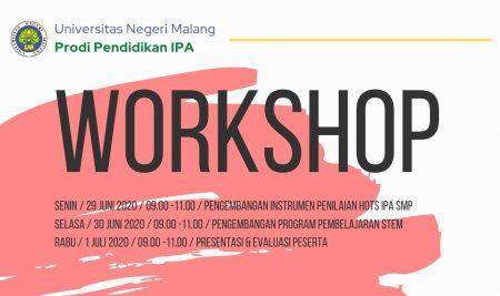 IPA UNTUK INDONESIA DARI UNIVERSITAS NEGERI MALANG: WORKSHOP PENILAIAN HOTS DAN PEMBELAJARAN STEM